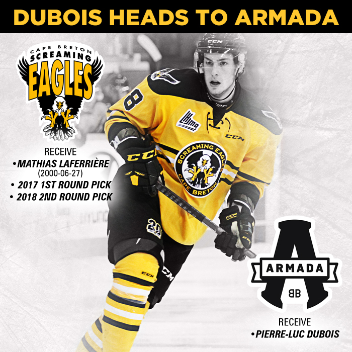 low priced 2b60c 7be49 Screaming Eagles Trade Pierre-Luc Dubois To Blainville ...