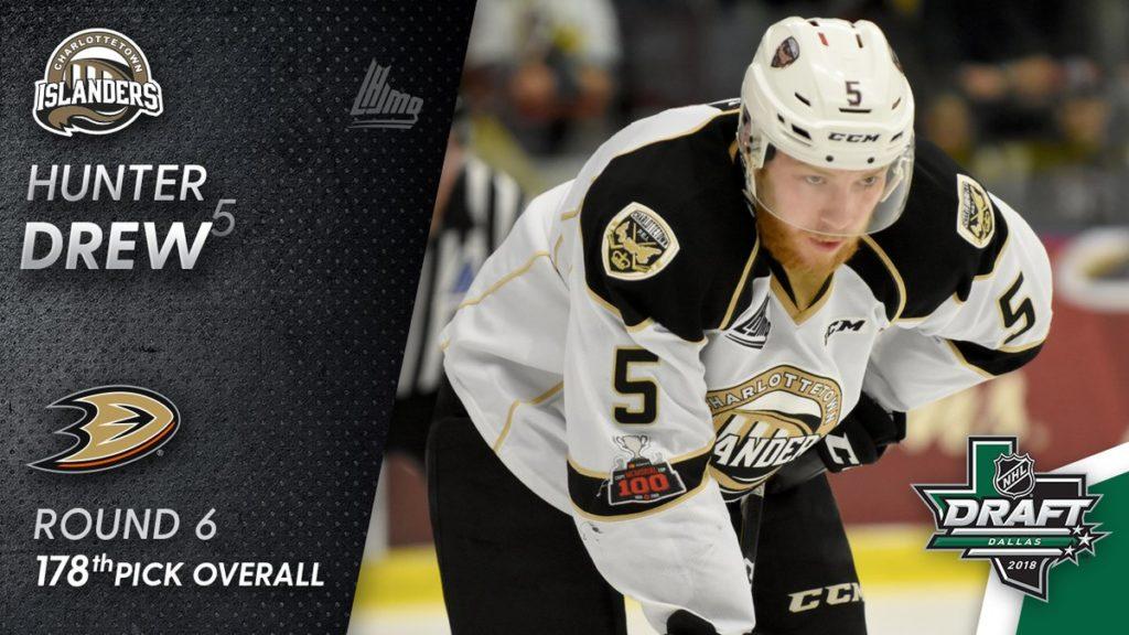 Hunter Drew drafted by Anaheim Ducks – Charlottetown Islanders