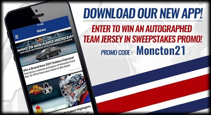 New Wildcats Mobile App and Sweepstakes Contest! – Moncton Wildcats