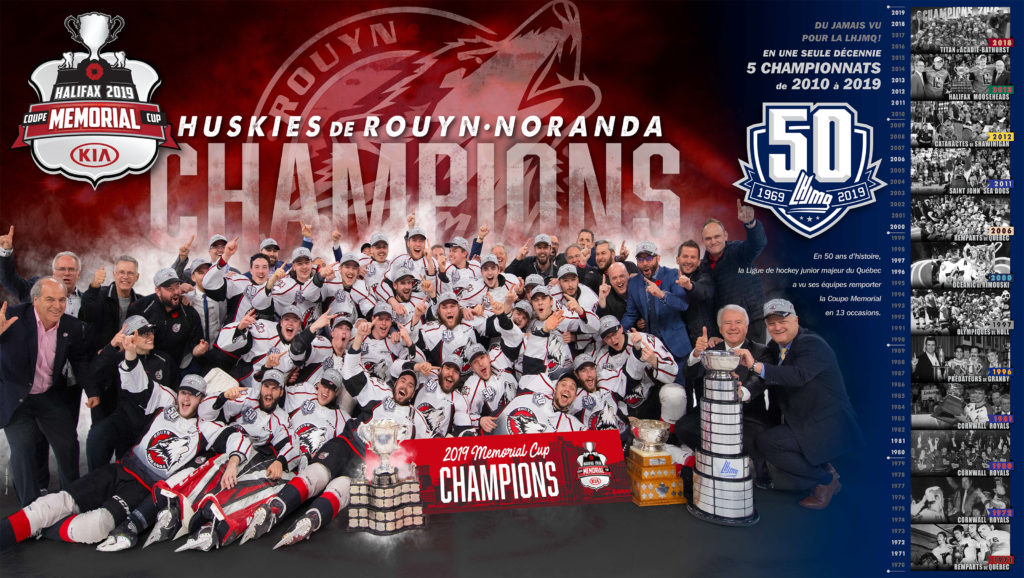 Champions | Coupe Memorial Cup | 2019 | Huskies, Rouyn-Noranda