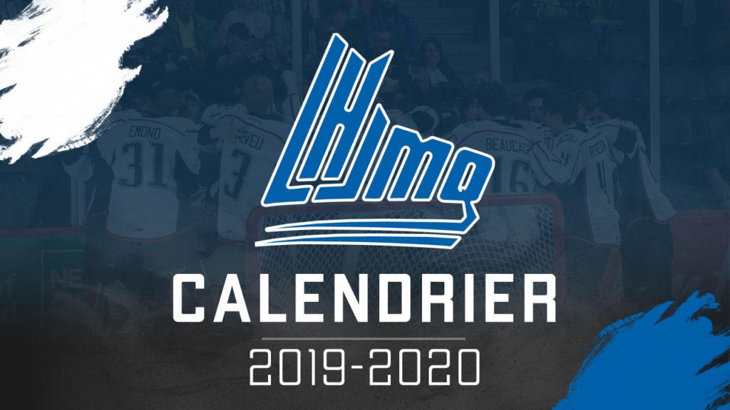 Calendrier 20.La Lhjmq Devoile Le Calendrier Complet De La Saison 2019 20