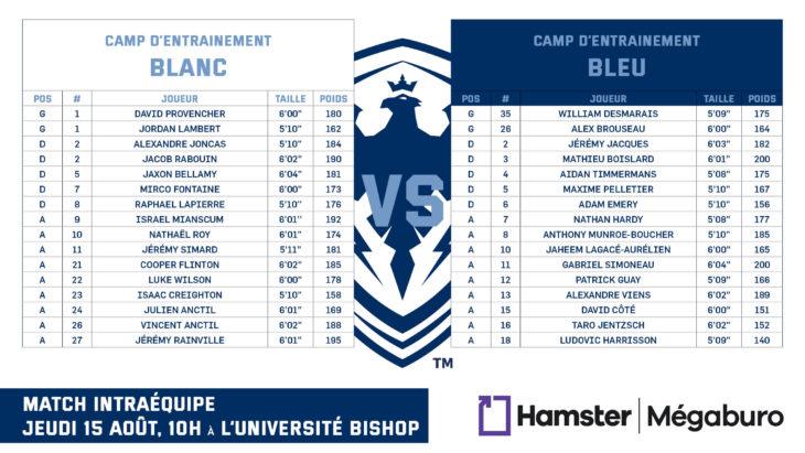 15-10 camp line-up