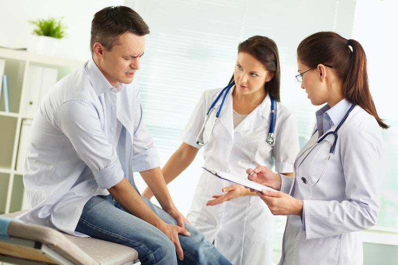 Blurred doctors surgery corridor
