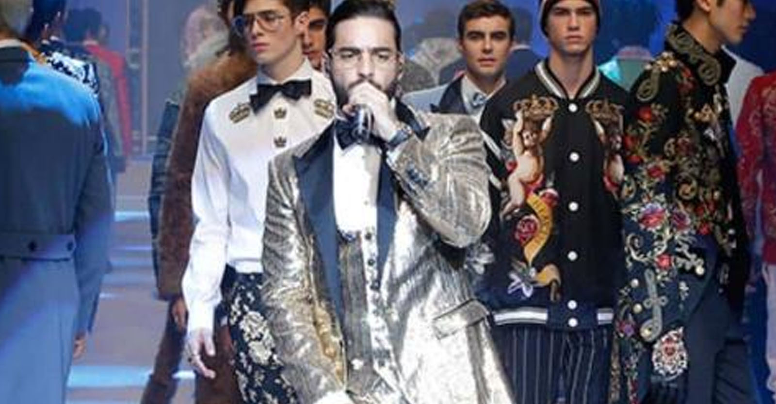 dc0507aff4 Este sábado se realizó la pasarela Menswear de Dolce & Gabbana en Milán ...