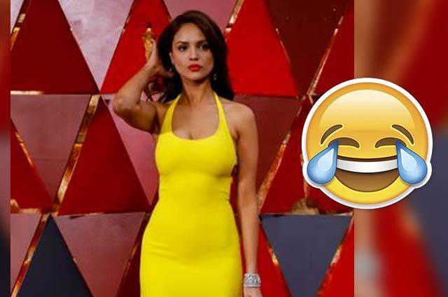 Eiza González Y Su Vestido Del Oscar Desataron Memes