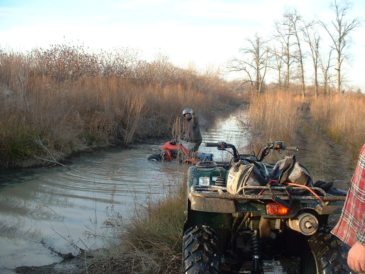 Lembo Lake ATV Park Cross the stream