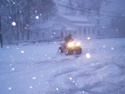 Snow Storm ATV Riding