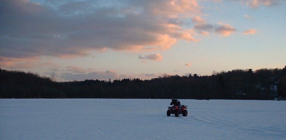 Frozen Lake ATV Riding