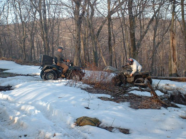 ATV Stuck on the trails