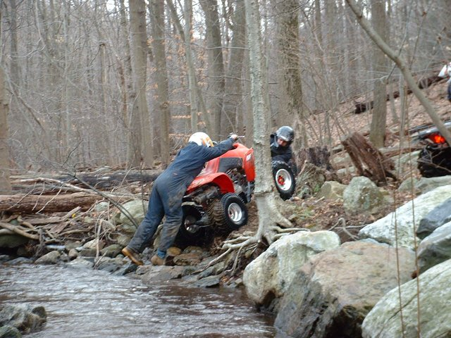 Need 4WD to get out of the creek