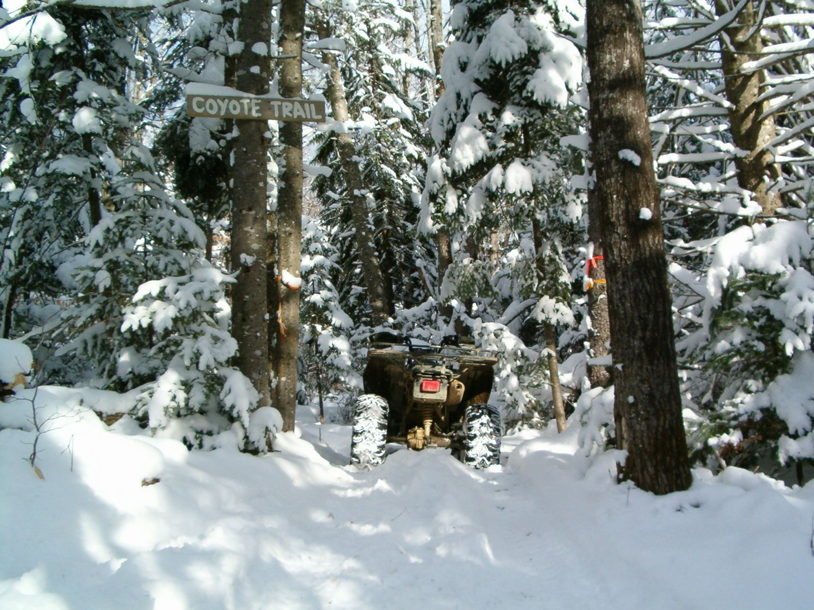 Wintertime riding in Northern Maine