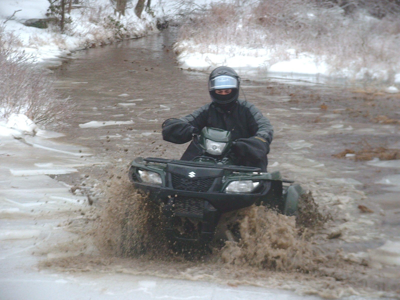 Suzuki King Quad Through Ice