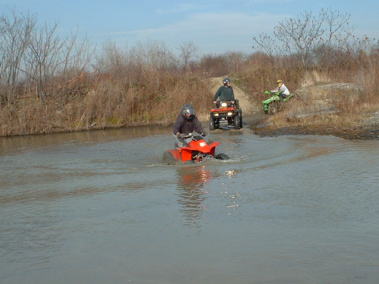 Lembo Lake ATV Park Going Through Water