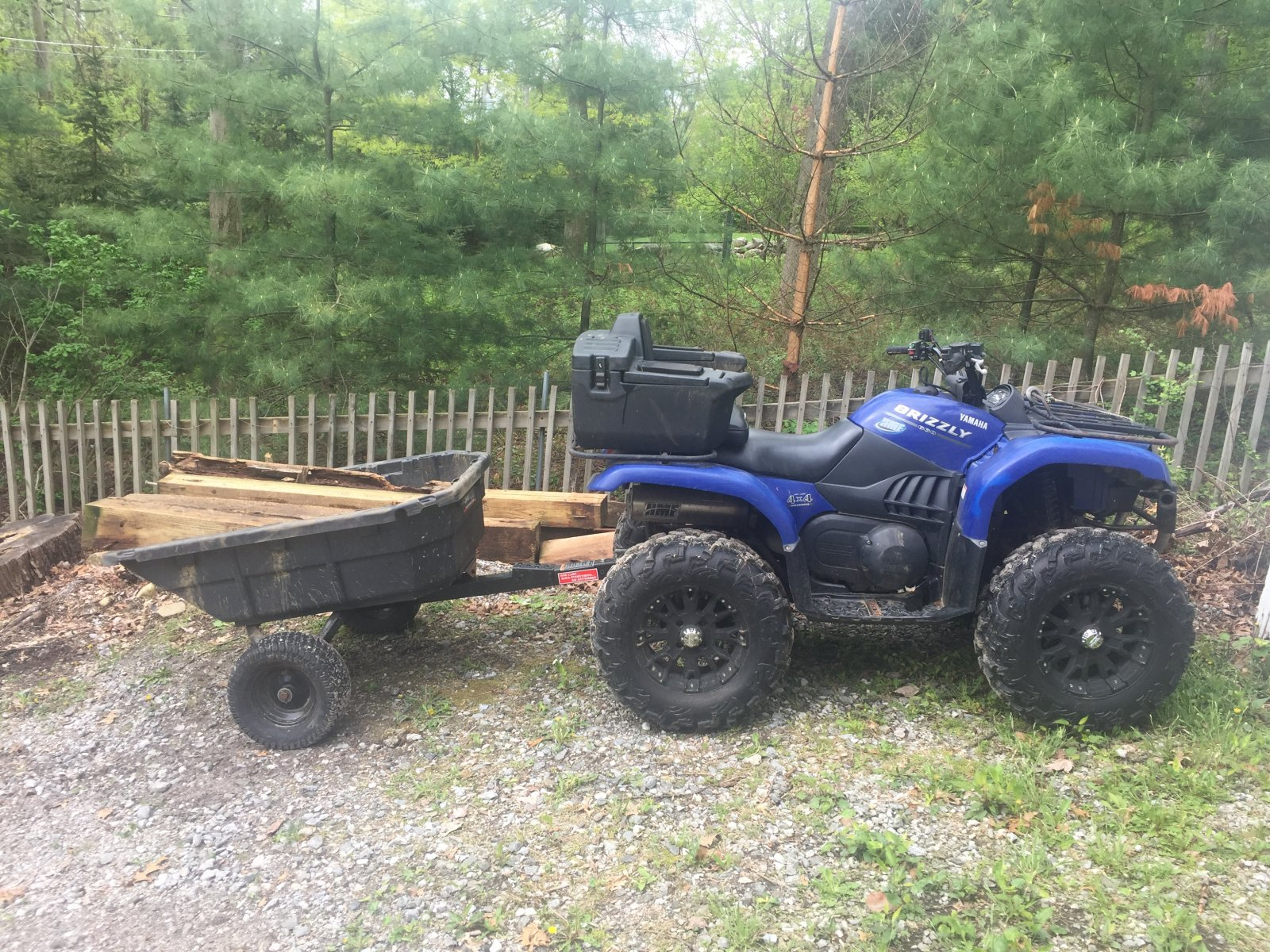 Loading Wood with my ATV