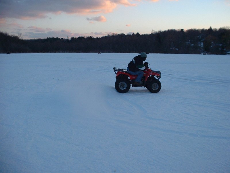 Frozen Lake Mahopac ATV Riding
