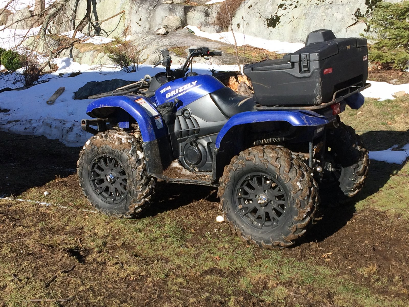 Yamaha Grizzly Black Rims