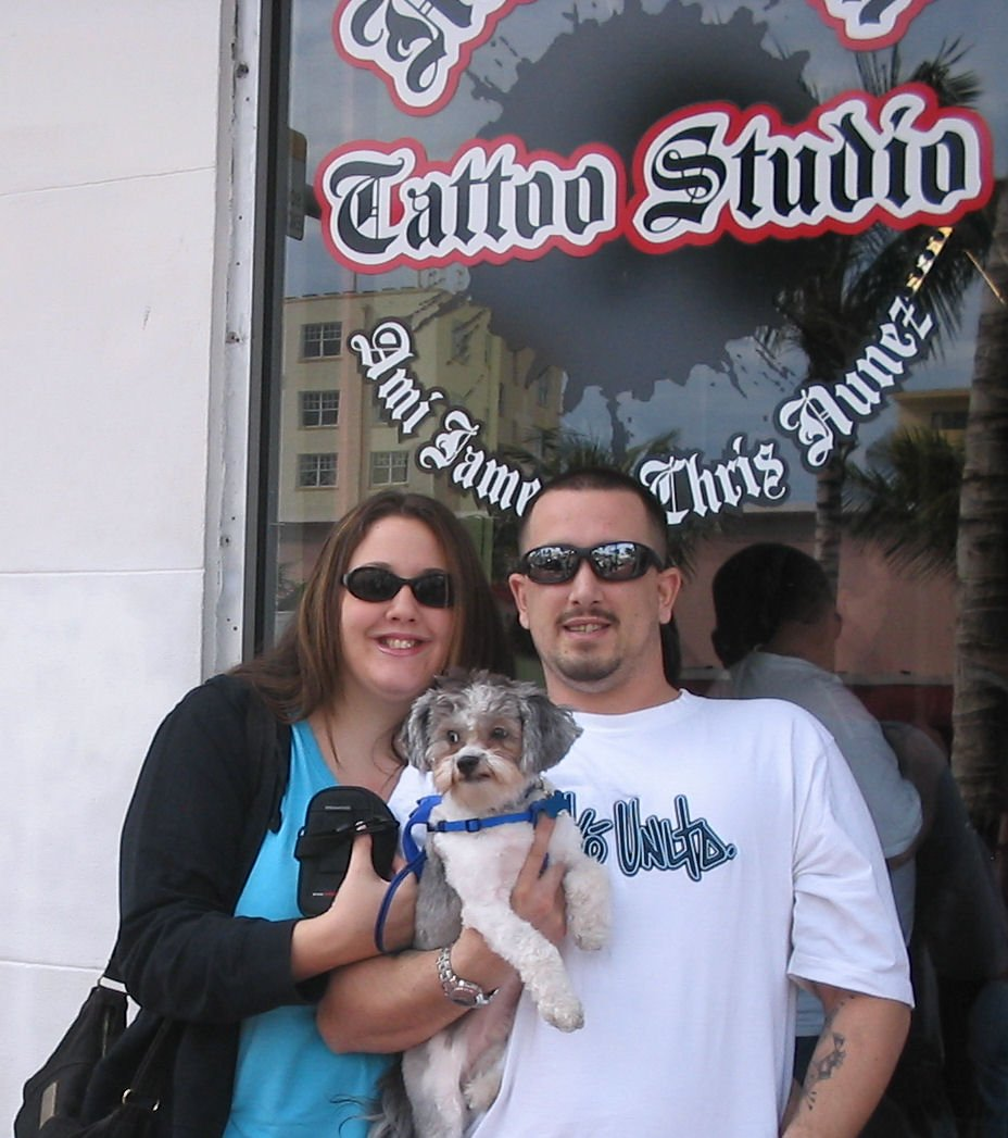 Me,Wifey,&Crumb in front of Miami Ink Tattoo Studio in Nov. 06'