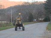 75mph 5th gear wheelie