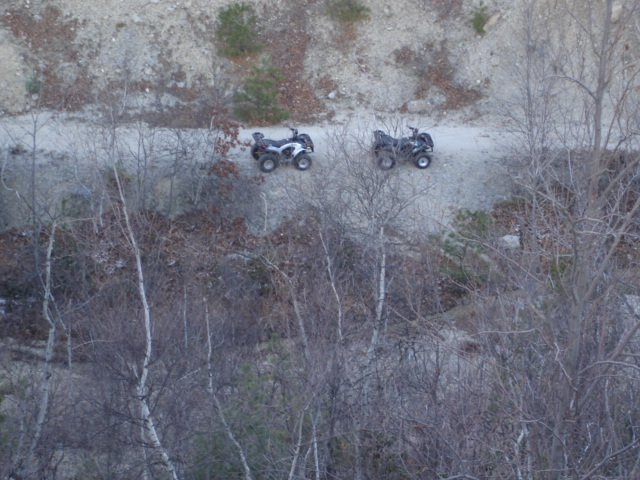 ATV's from the top of Sandy Mtn.