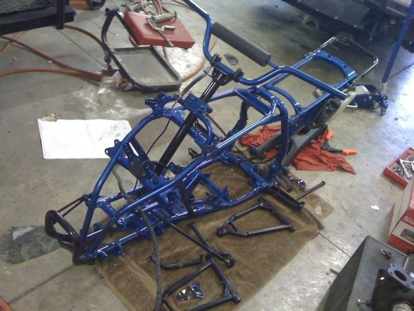YFZ custom powder coated frame