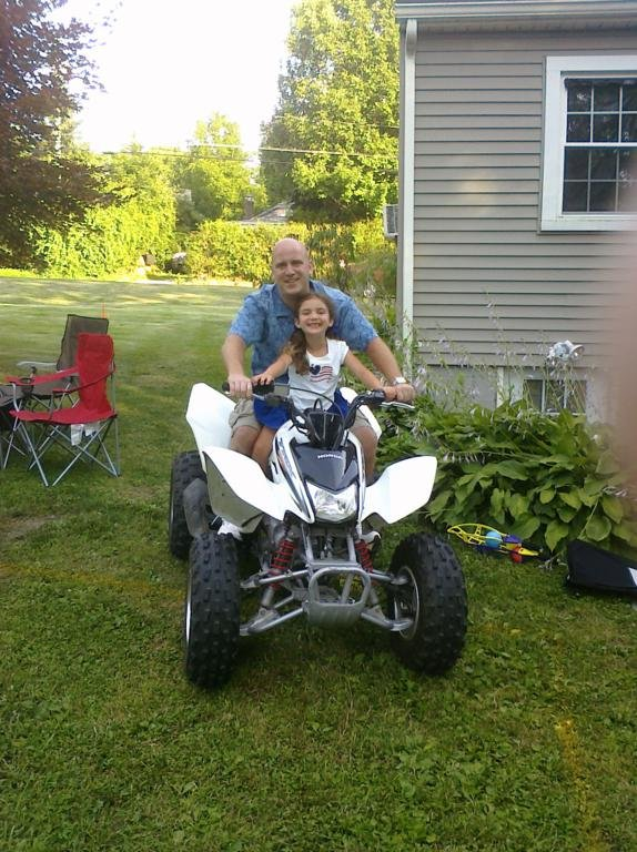 Father and Daughter Riding