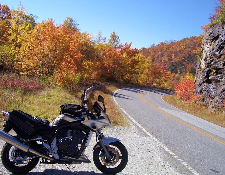 Fall color on the Blue ridge parkway NC