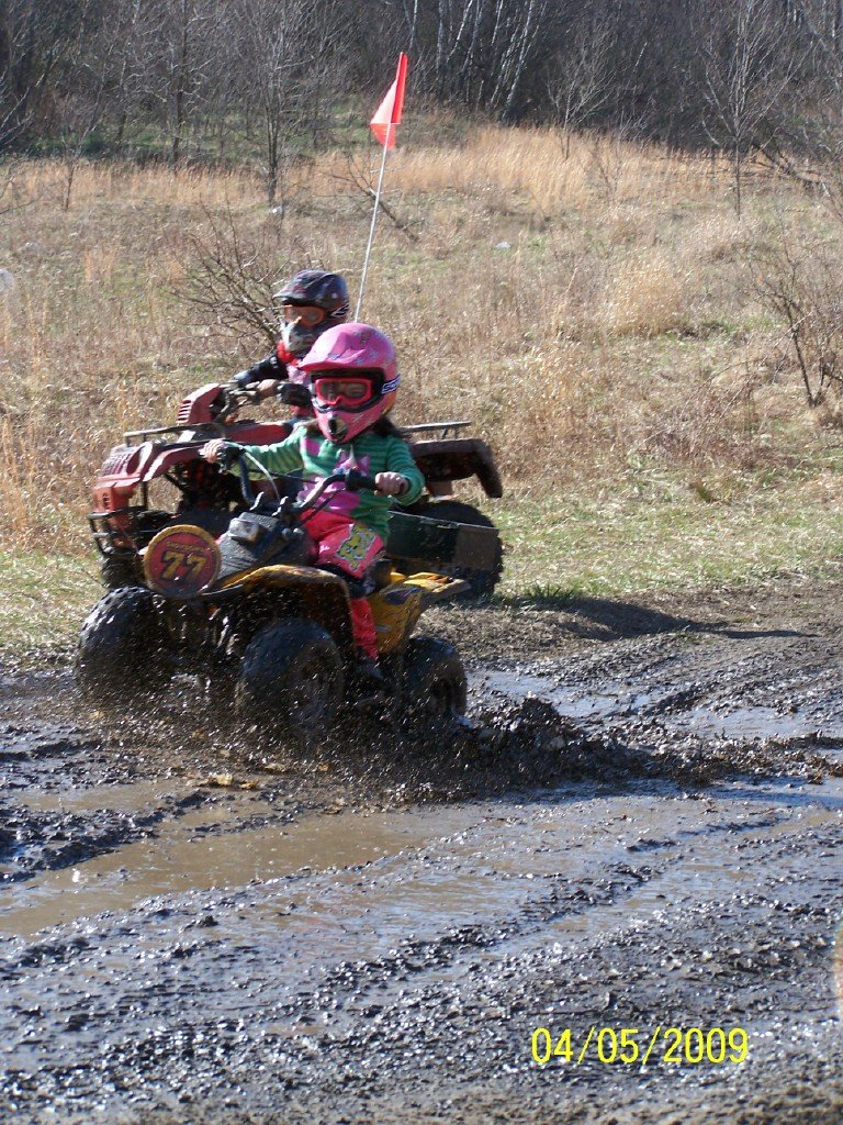 my Daughter on her 50cc