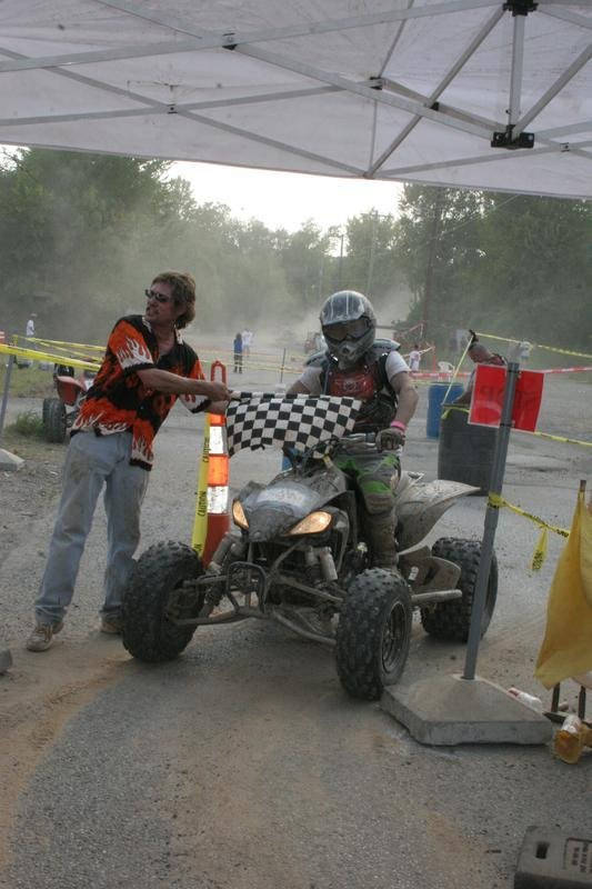 the finish line at the Tallahana grand prix
