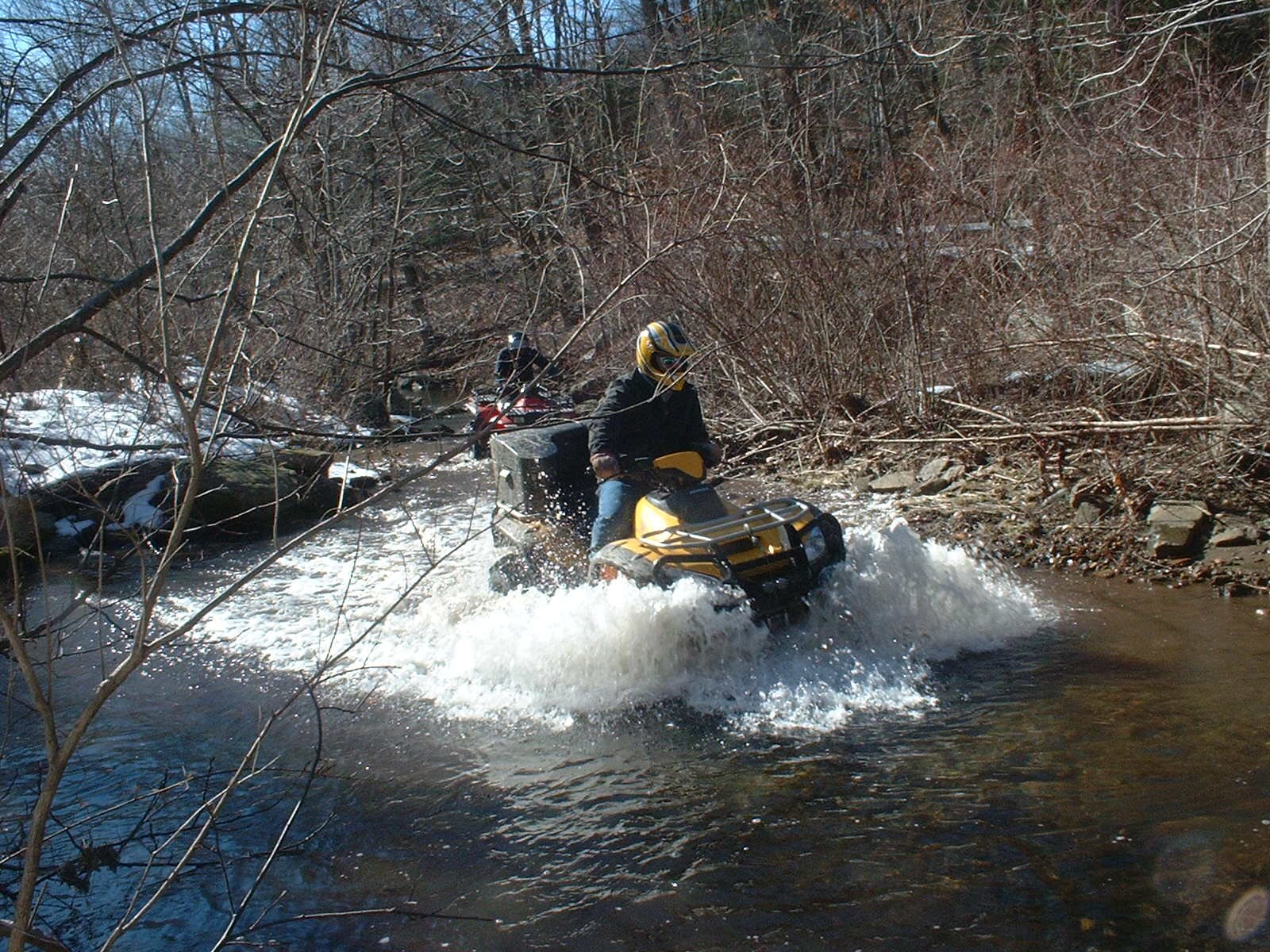 Honda Rincon Through Water
