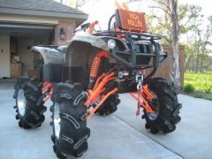 Modified Lifted Yamaha Grizzly