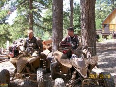 Our ATVs In The Woods
