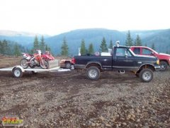 The truck and my bike & quad