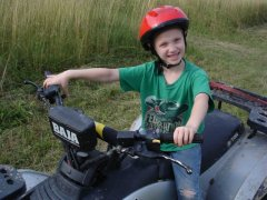 Spencer on ATV ride