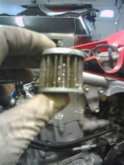 If you have a Honda TRX 450 expect to find your filter looking like this