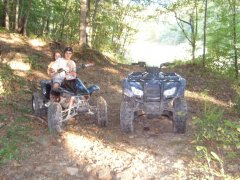 dads 4-wheeler and matt