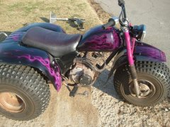 85 honda 200s with purple true fire paint