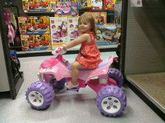My Daughter at Toys R Us