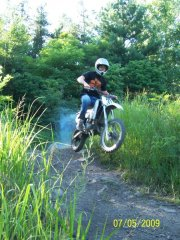 Nephew on His YZ