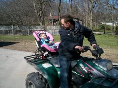 Nieces first quad ride