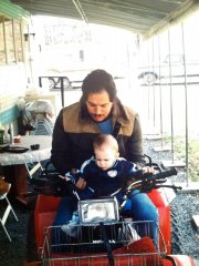 Me and my dad on our first quad