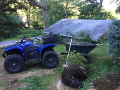 My Yamaha Grizzly Yard Work
