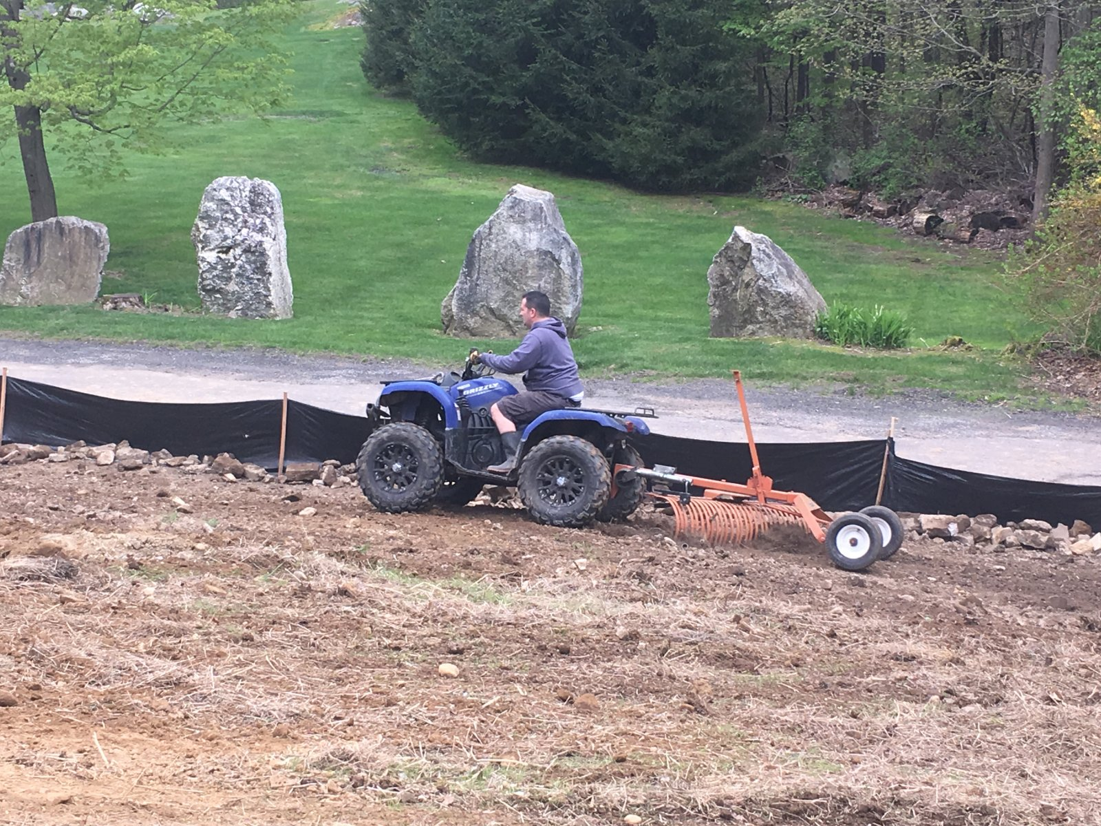 ATV Dirt Grading with Rake