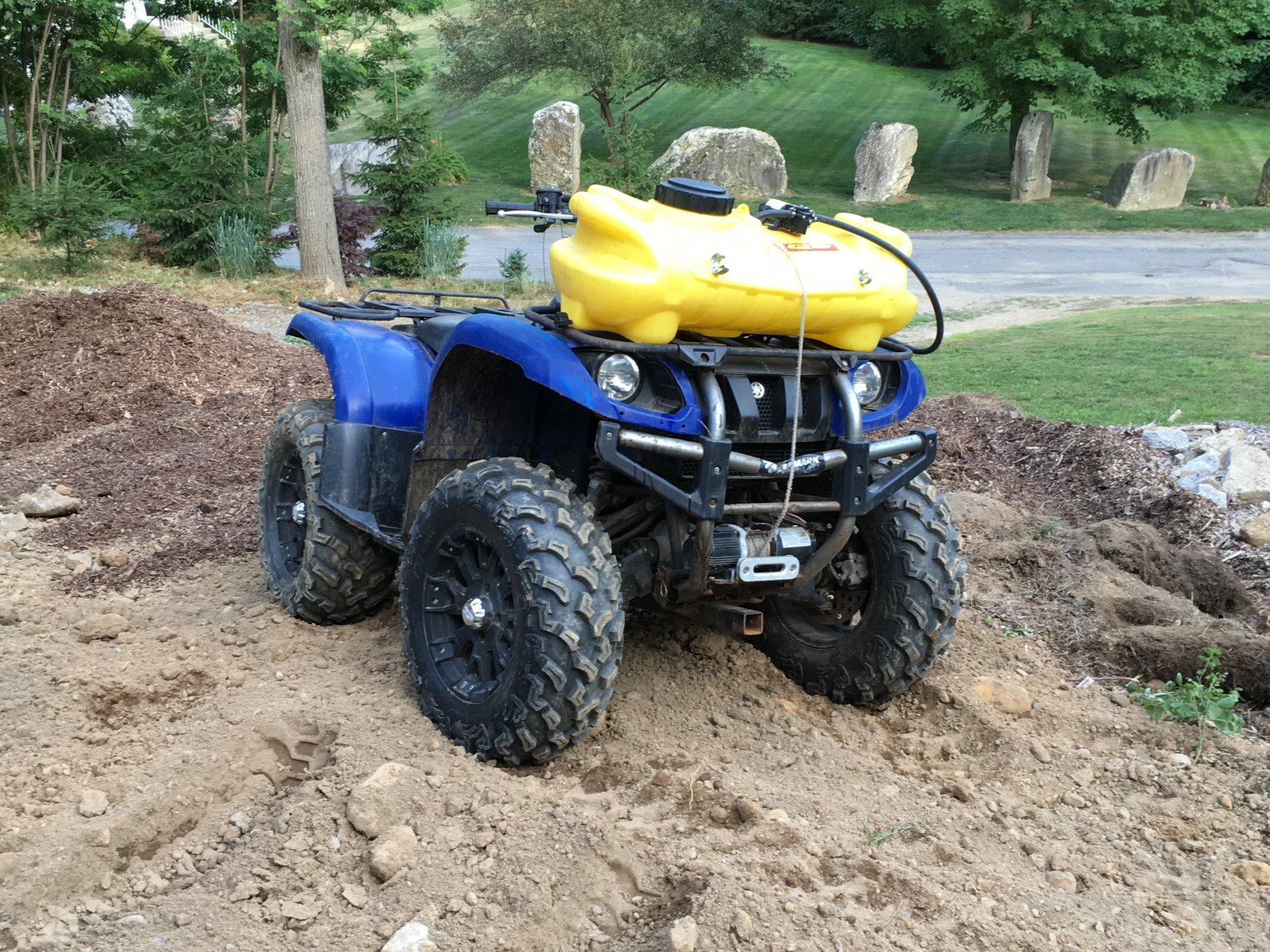 Yamaha Grizzly With Sprayer