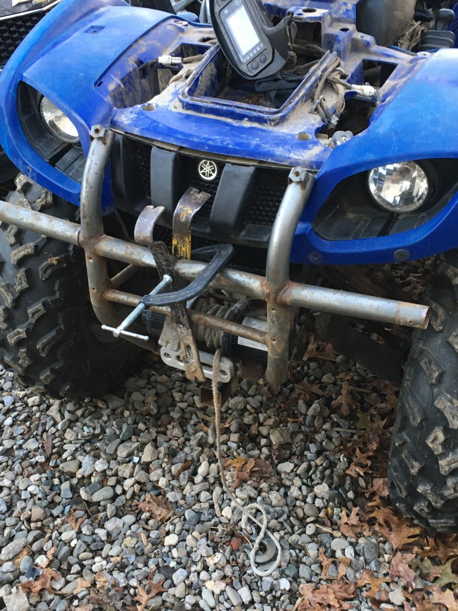 2004 Yamaha Grizzly 660 Bumper Repair
