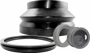 Examples of Qualiform's rubber seals and gaskets   Rubber extrusion