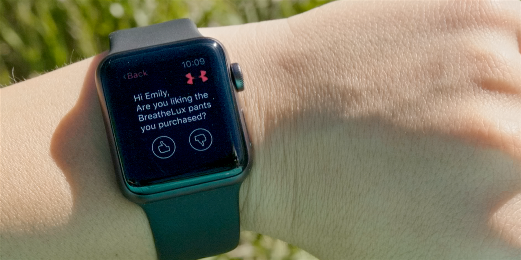 Apple Watch app asks user for feedback