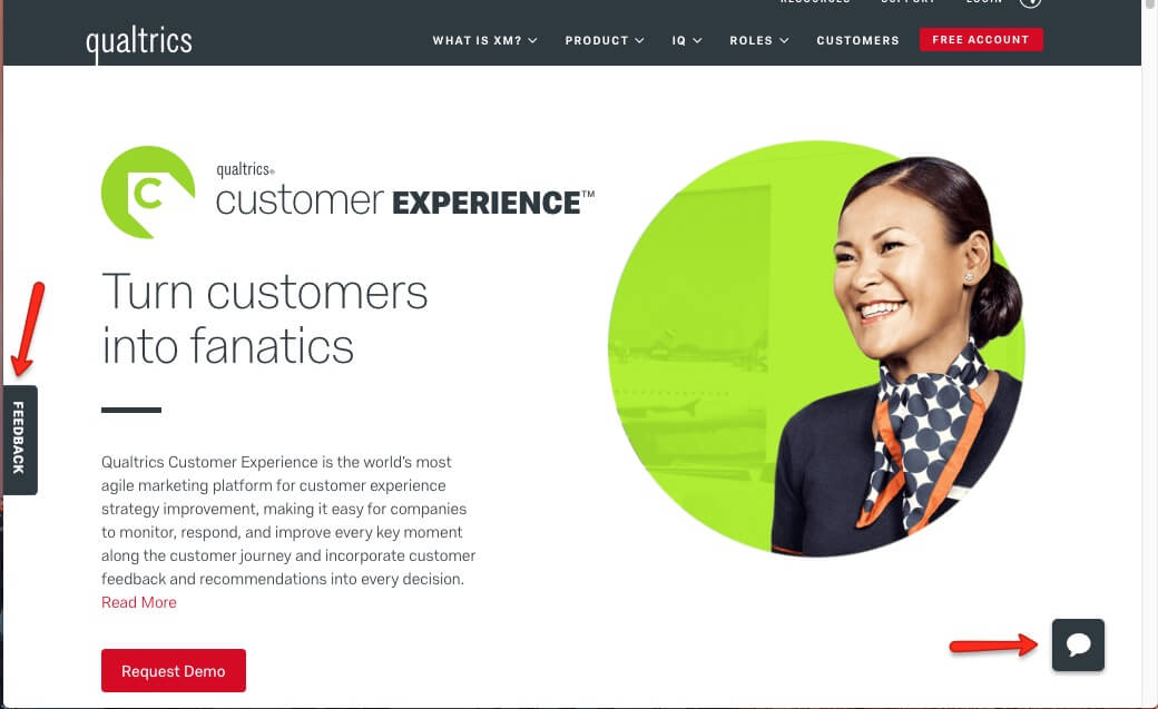 customer experience page