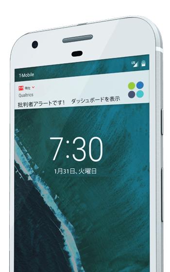 スマートフォン分析ダッシュボードアラート画面