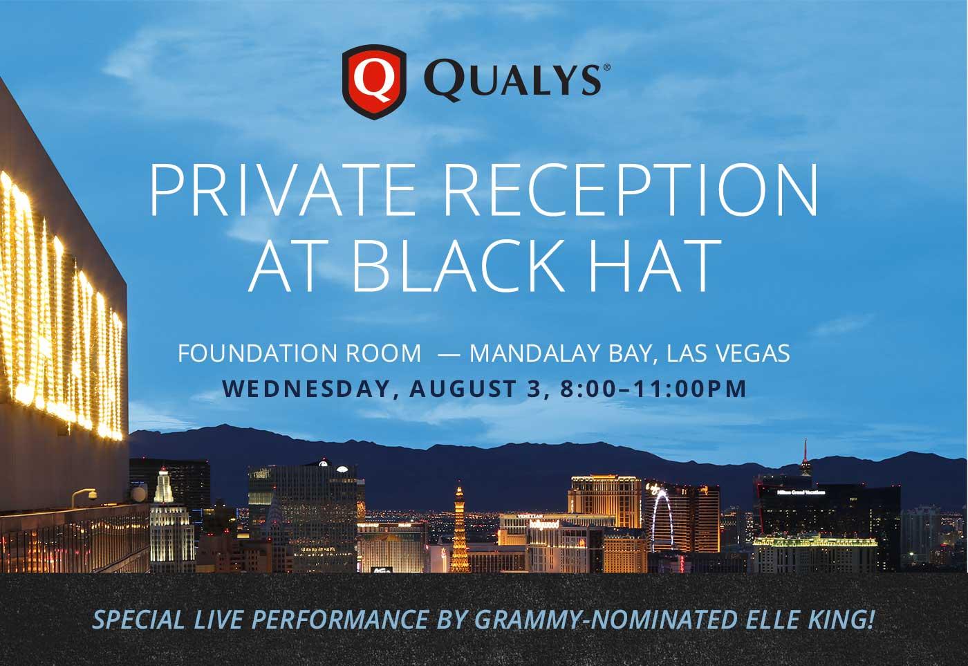 Qualys Private Reception at BlackHat 2016