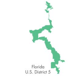 The bizarre shape of Florida district 5